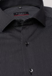 ETERNA CHEMISE À MANCHES LONGUES MODERN FIT ANTHRACITE RAYÉ