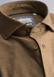 ETERNA CHEMISE À MANCHES LONGUES MODERN FIT SOFT TAILORING TWILL MARRON UNI