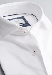 ETERNA CHEMISE À MANCHES LONGUES SLIM FIT SOFT TAILORING TWILL BLANC UNI