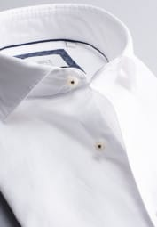 ETERNA CHEMISE À MANCHES LONGUES MODERN FIT SOFT TAILORING TWILL BLANC UNI