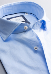ETERNA CHEMISE À MANCHES LONGUES MODERN FIT SOFT TAILORING TWILL BLEU CLAIR UNI
