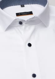 ETERNA CHEMISE À MANCHES LONGUES SLIM FIT PERFORMANCE SHIRT STRETCH BLANC UNI