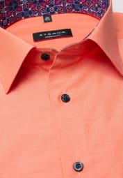 ETERNA CHEMISE À MANCHES COURTES MODERN FIT CHAMBRAY ORANGE UNI