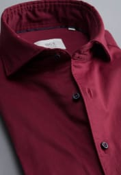ETERNA CHEMISE À MANCHES LONGUES MODERN FIT SOFT TAILORING TWILL ROUGE UNI