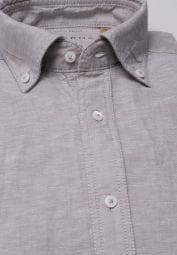 ETERNA CHEMISE À MANCHES COURTES REGULAR FIT UPCYCLING SHIRT LIN BEIGE UNI