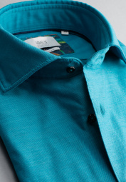 ETERNA CHEMISE À MANCHES LONGUES MODERN FIT SOFT TAILORING TWILL TURQUOISE UNI
