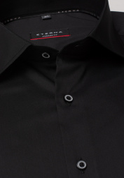 ETERNA CHEMISE À MANCHES LONGUES MODERN FIT PERFORMANCE SHIRT STRETCH NOIR UNI