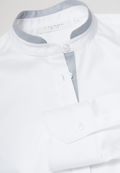 ETERNA CHEMISIER À MANCHES LONGUES SLIM FIT BLANC UNI