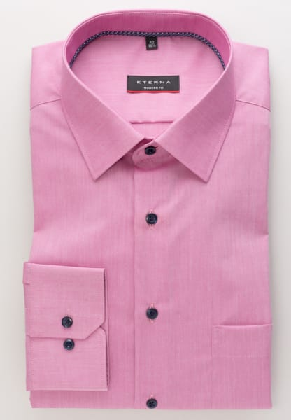 ETERNA CHEMISE Á MANCHES LONGUES MODERN FIT CHAMBRAY ROSE UNI