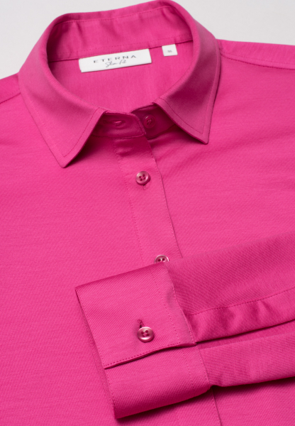 ETERNA CHEMISIER À MANCHES LONGUES SLIM FIT JERSEY ROSE UNI