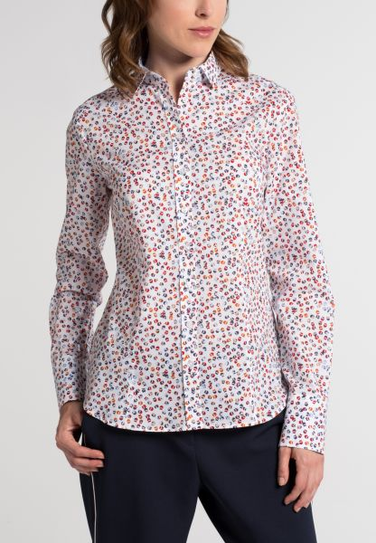 ETERNA LONG SLEEVE BLOUSE MODERN CLASSIC RED / COLORFUL PRINTED